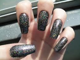 Dicas de Unhas Pretas com Glitter