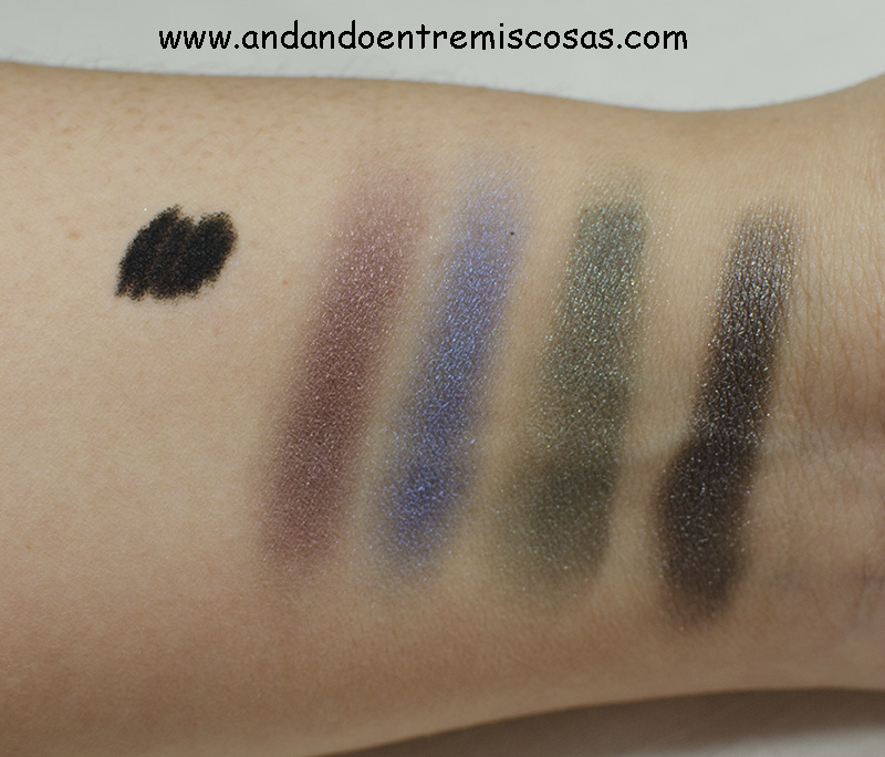 Smokin Palette Mua, Swatches