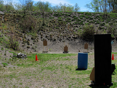 the pit set up for the IDPA classifier