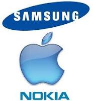 Samsung, Apple e Nokia.