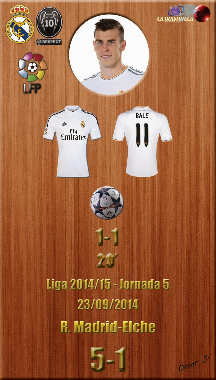 Bale (1-1) - Liga 2014/15. Jornada 5 (23/9/2014)