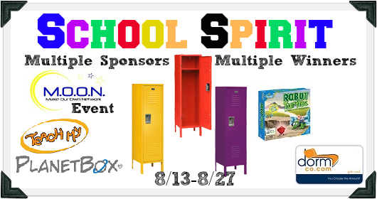 Enter the School Spirit Giveaway. Ends 8/27.