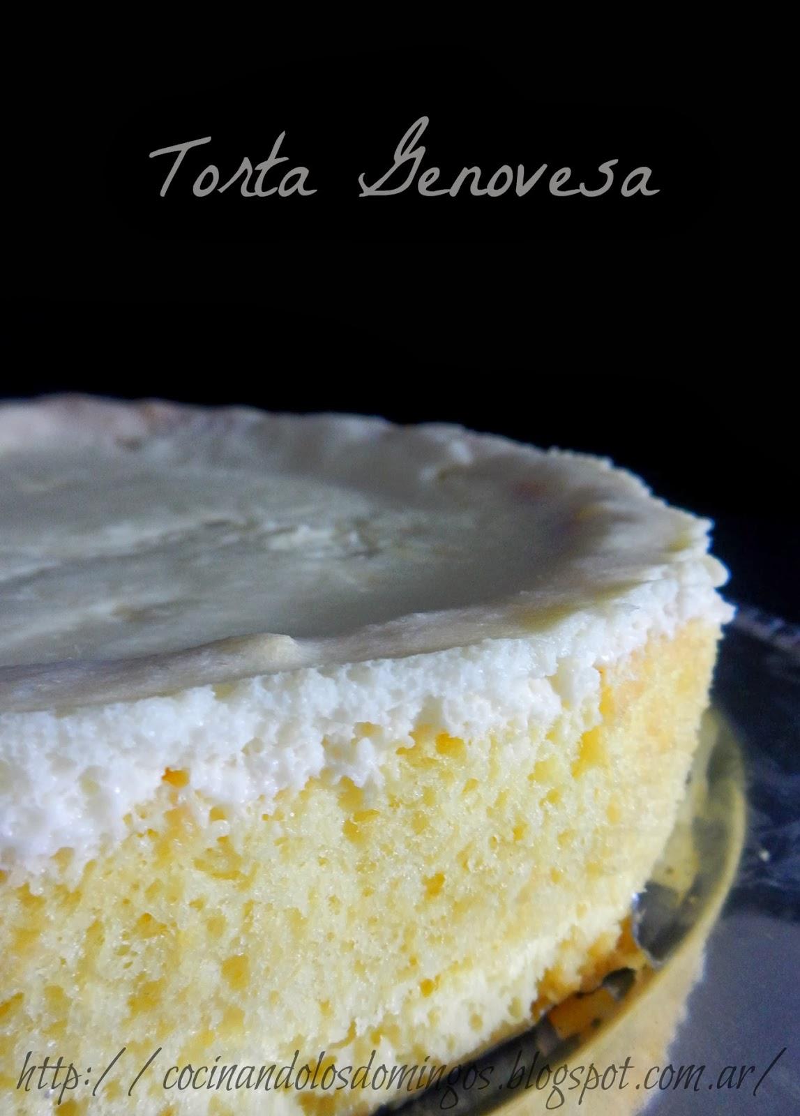 torta genovesa tres leches