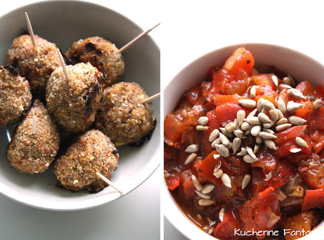 kotleciki, przekąska, sos pomidorowy,