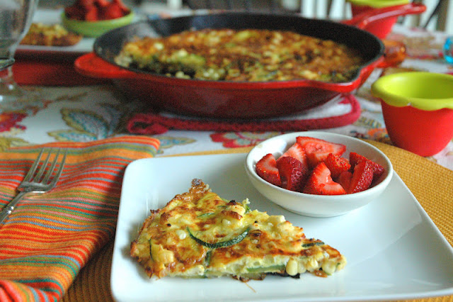 Four and Twenty Blackberries: Spicy Zucchini and Corn Frittata
