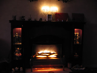 Warm and cosy fire and lights