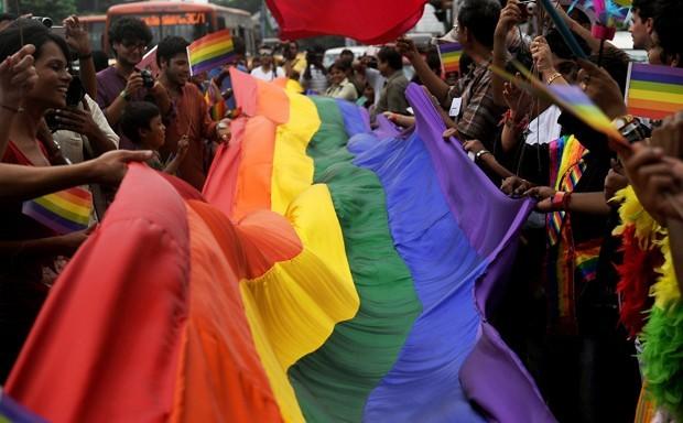 Evento quer trazer conscientização sobre direitos básicos da comunidade LGBT (Foto: Dibyangshu Sarkar/France Presse)