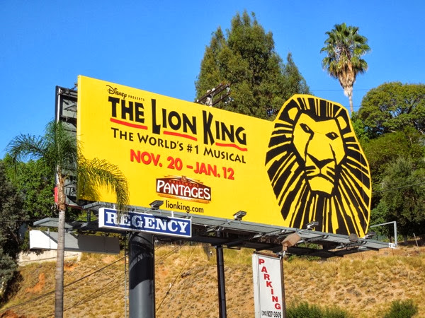 Lion King Musical billboard Sunset Strip