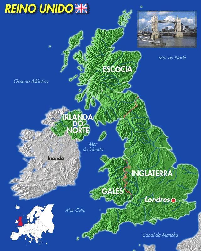 Reino Unido Capitales Reino Unido de Los Países