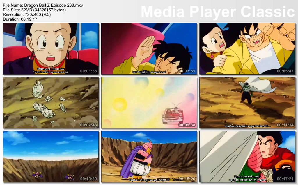 Download Film / Anime Dragon Ball Z Majin Buu Saga Episode 238 Bahasa