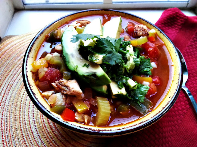 chili-spiced chicken soup