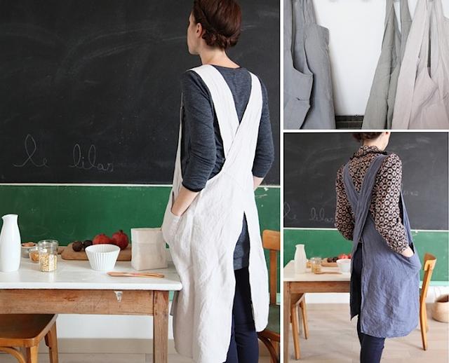 Japanese linen aprons