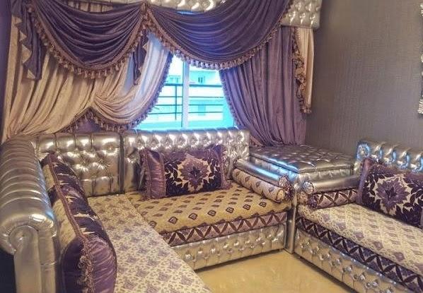 Fantastique artisanat salon marocain en cuir traditionnel for Salon artisanat