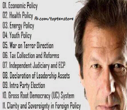 top 10 reasons to vote for PTI Imran Khan