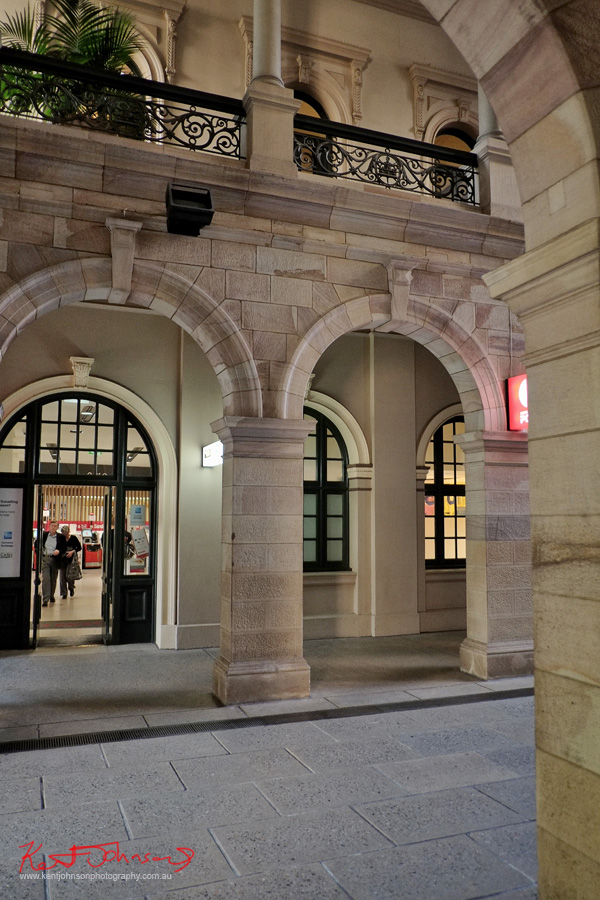 The arcade Brisbane GPO. Photo by Kent Johnson.