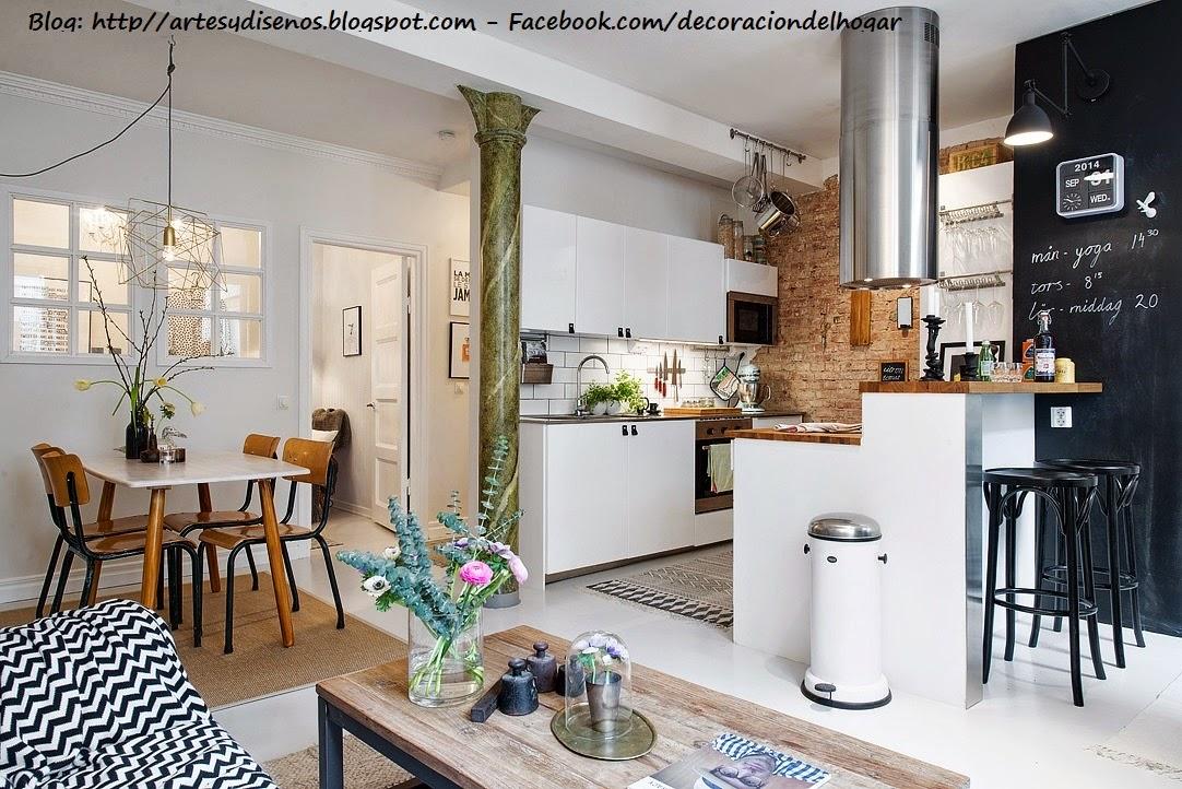 Como Decorar Sala Comedor Y Cocina En Un Solo Ambiente Pequeno ~ Diseño y Decoración Cocinas , Comedores , Decoración