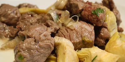 recetas de cocina carne con alcachofas