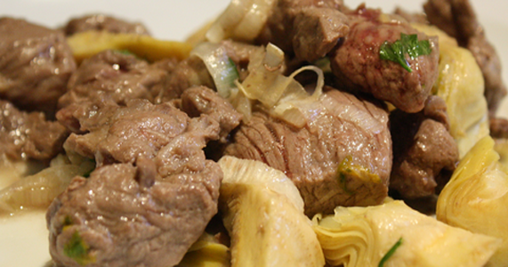 Carne con alcachofas recetas de cocina cocinar facil for Comidas faciles de cocinar