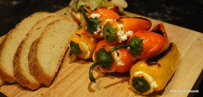 thehomefoodcook - ricotta stuffed roasted baby peppers