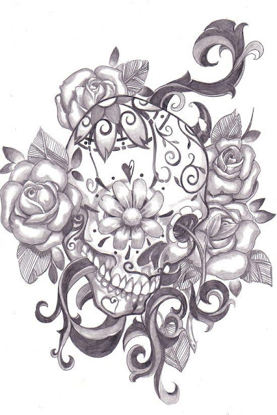 Sugar Skull Love Tattoos