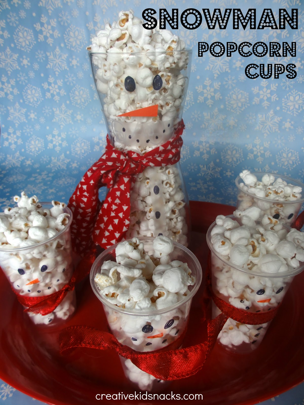 I Hope You Enjoy Creating Your Own Snowman Popcorn Cups Be Creative With Your Supplies And Show Me What You Came Up Id Love A Link To A Photo In The