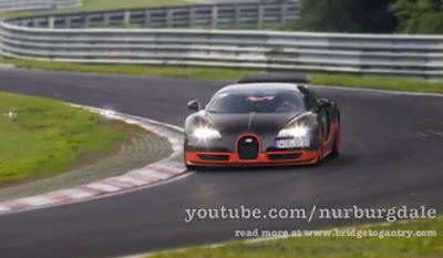 Bugatti Veyron Super Sport at Nurburgring Nordschleife to Set Lap Time