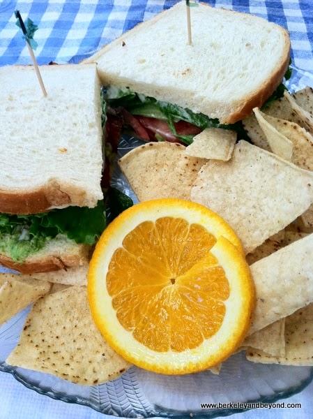 BLTA sandwich at Awful Annie's restaurant in Auburn, California