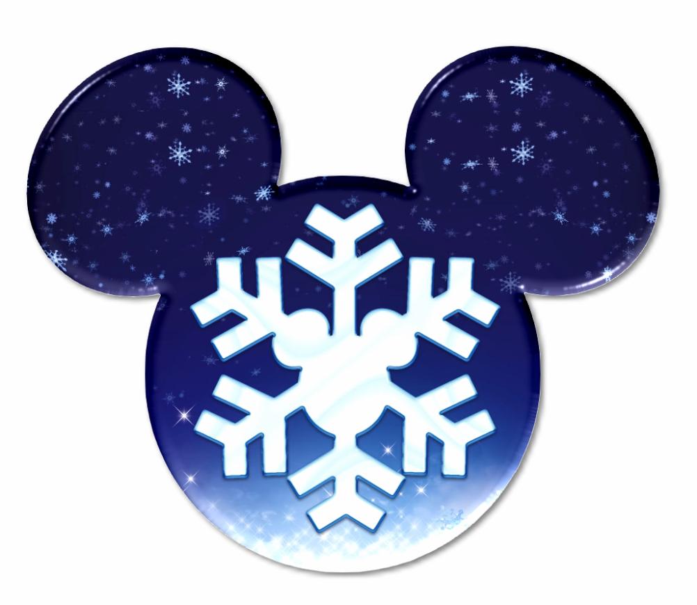 cabezas de mickey rellenas con copos de nieve