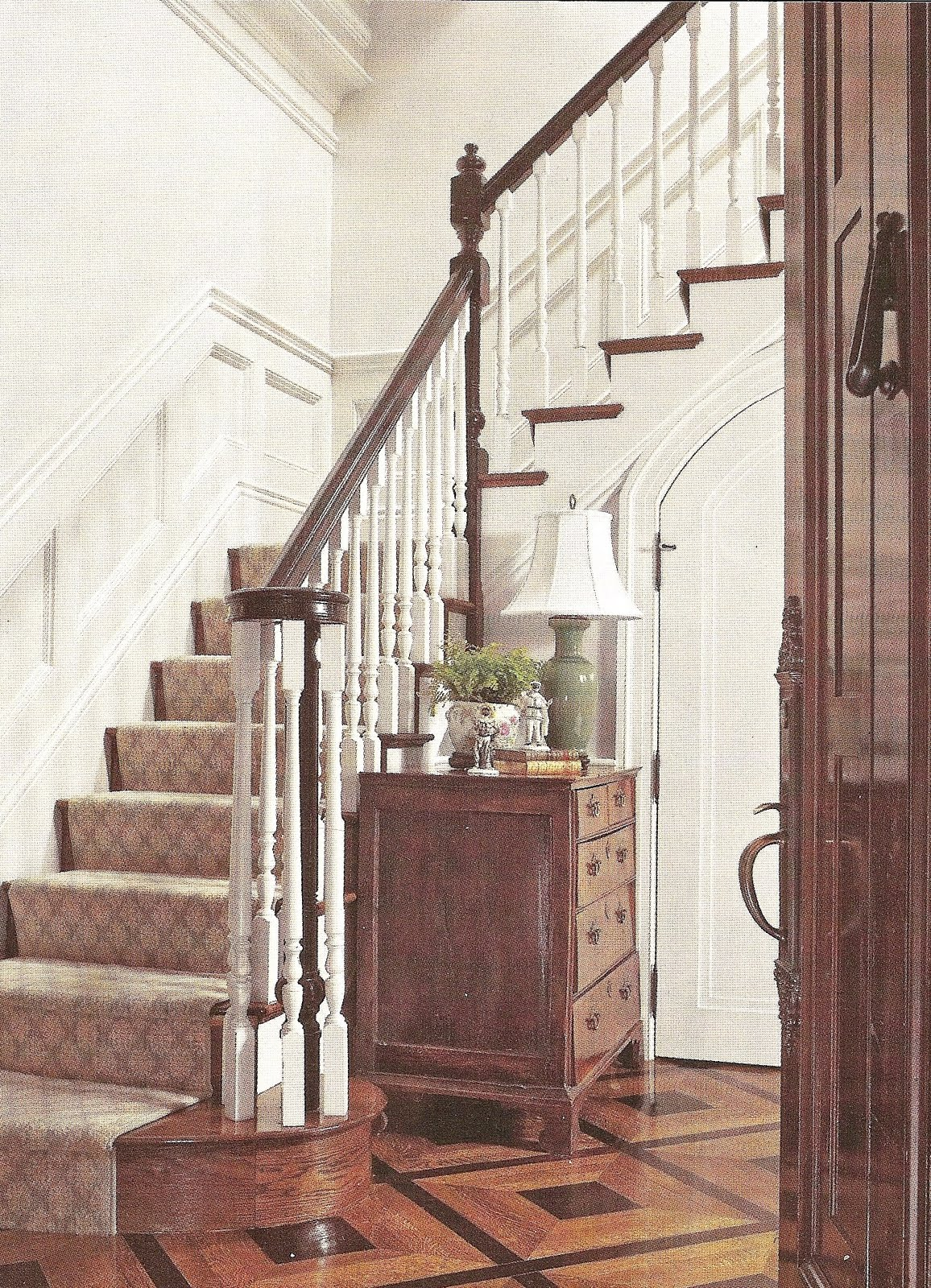 Foyer Staircase Runners : Acanthus and acorn where should a stair runner end