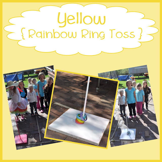 Rainbow Activities {ring toss}