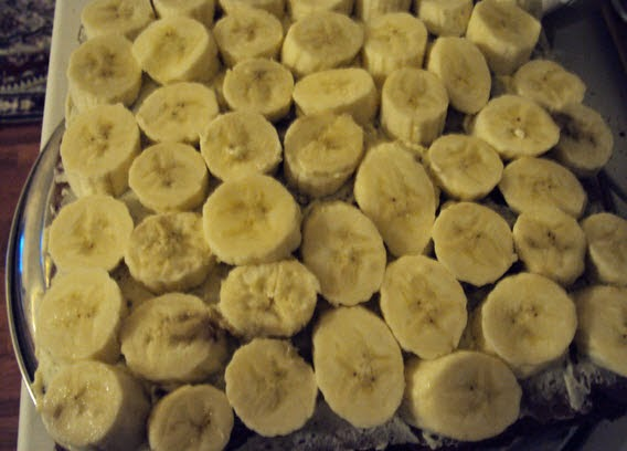 Пирожное бананово   шоколадное