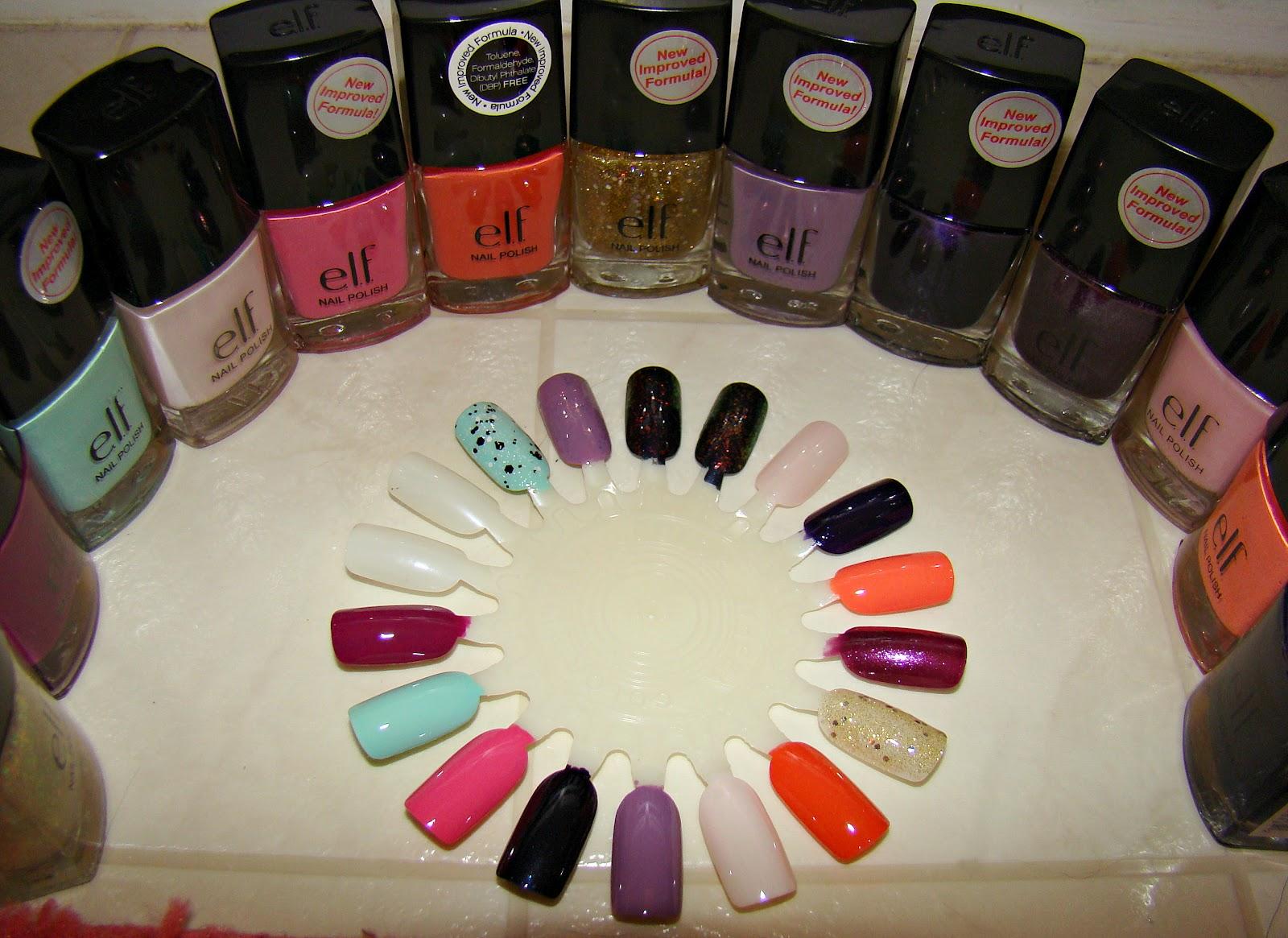 Polishophrenia: e.l.f. nail polish review and BATTLE OF THE FLAKIES!!!