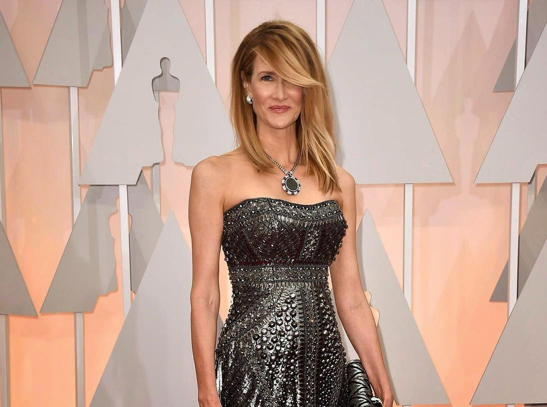 laura dern make up oscars 2015