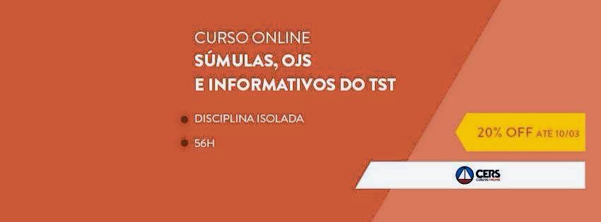 CURSO DE SÚMULAS, OJS Com o professor. HENRIQUE CORREIA
