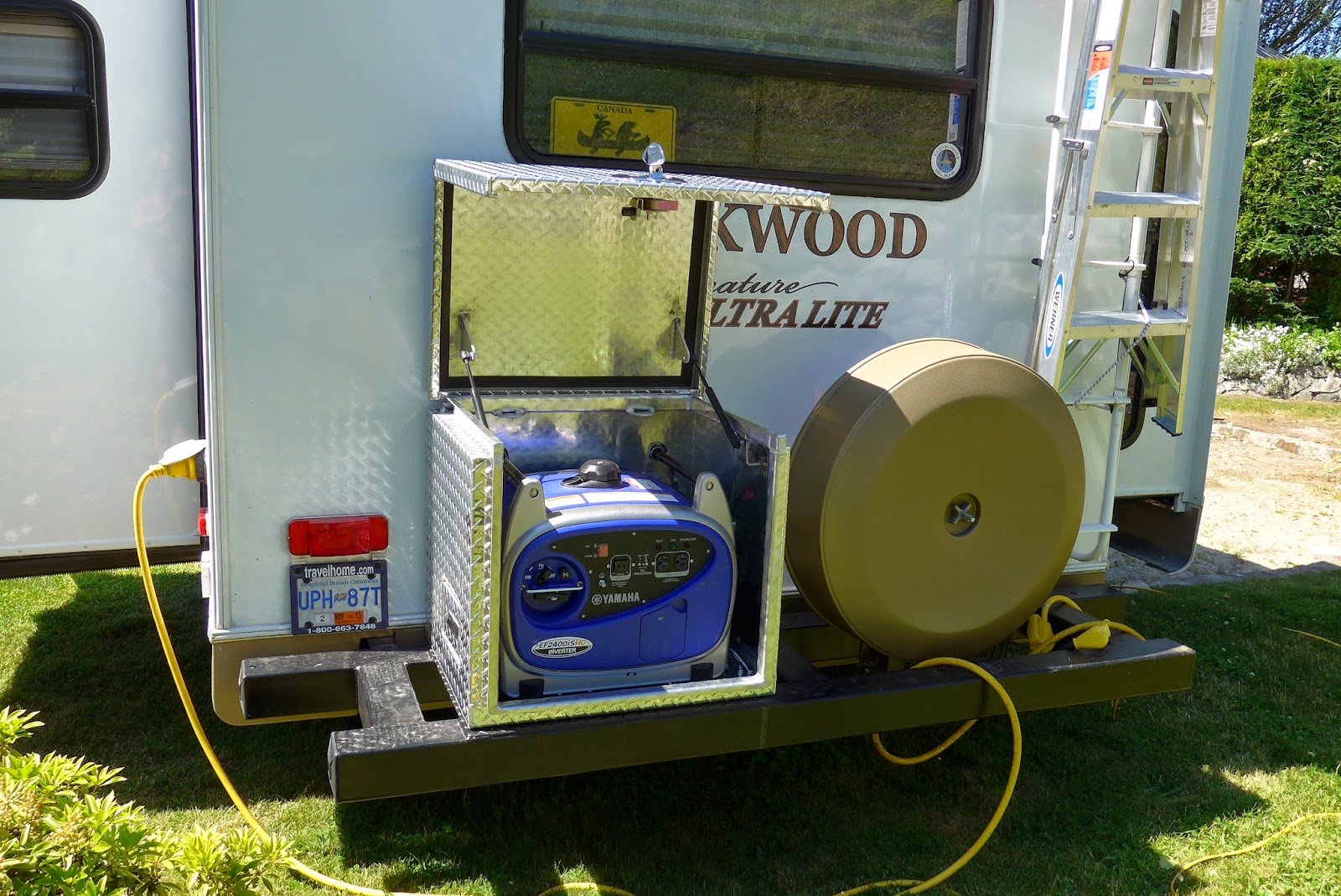 We Discover Canada And Beyond Custom Made Generator Box For Our RV