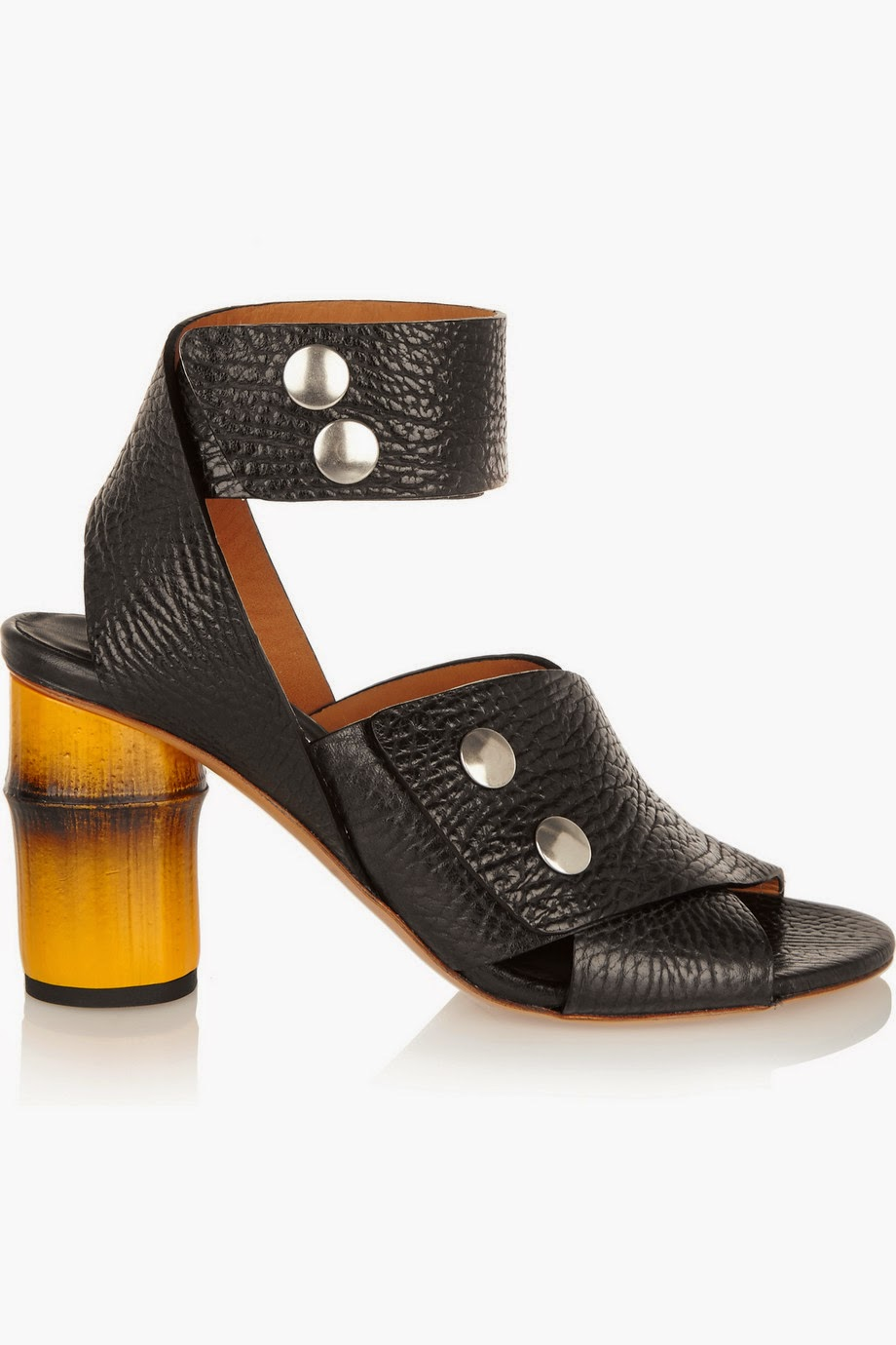acne black sandals, acne pica shoes, acne black heel sandals,