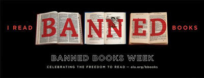 """I Read Banned Books"" Banned Books Week banner"