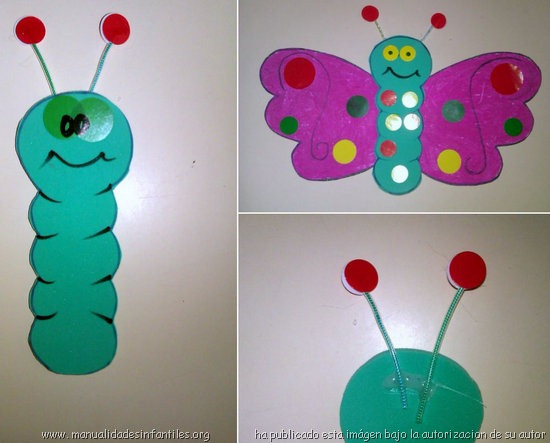Mariposas Con Cartulina
