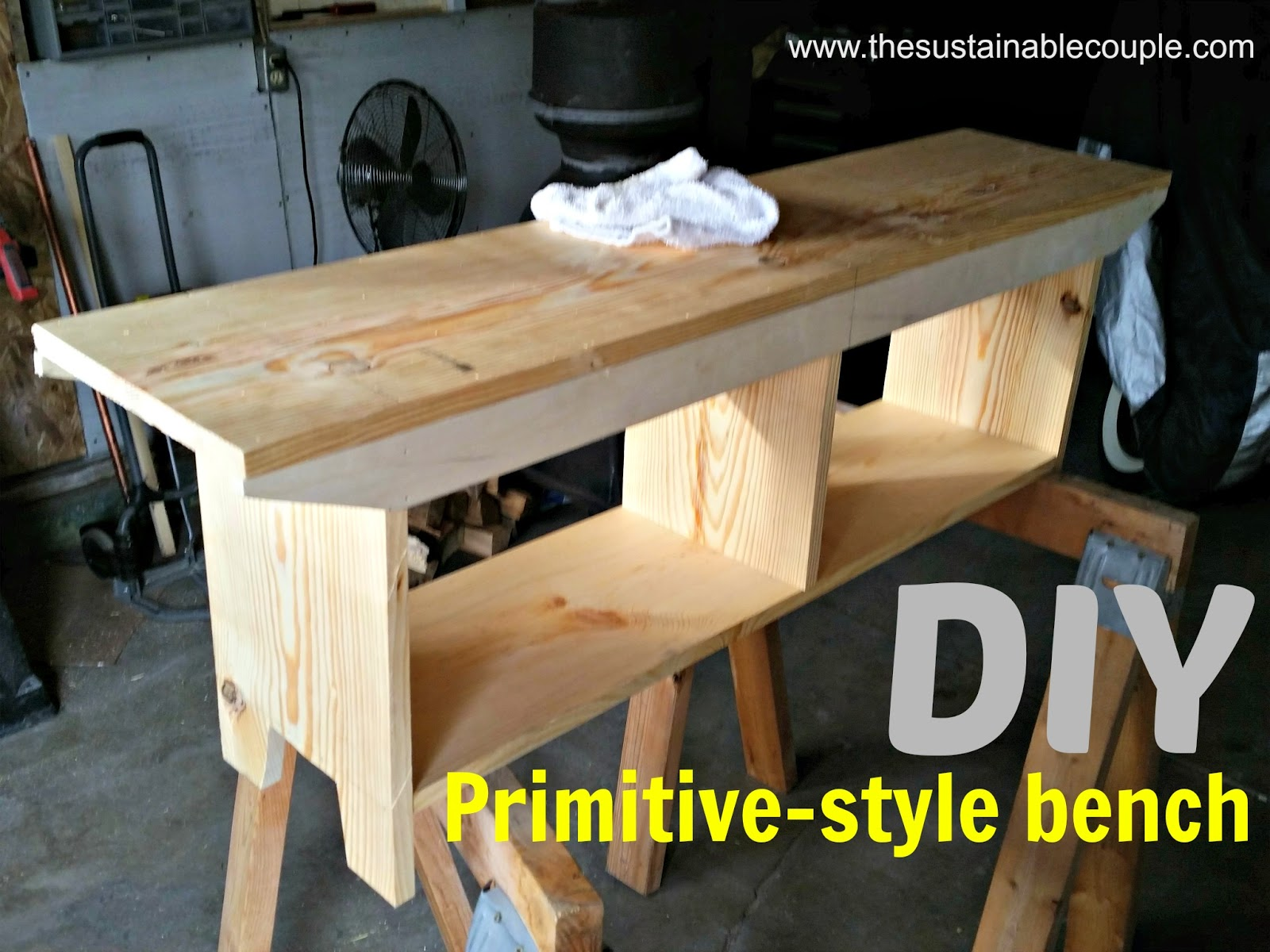 Diy primitive furniture - What Do You Know But Only A Few Hours Later My Homestud Had A Nice Bench Ready For Painting Let Me Tell You He Did A Great Job And It Was Sooooooo Easy