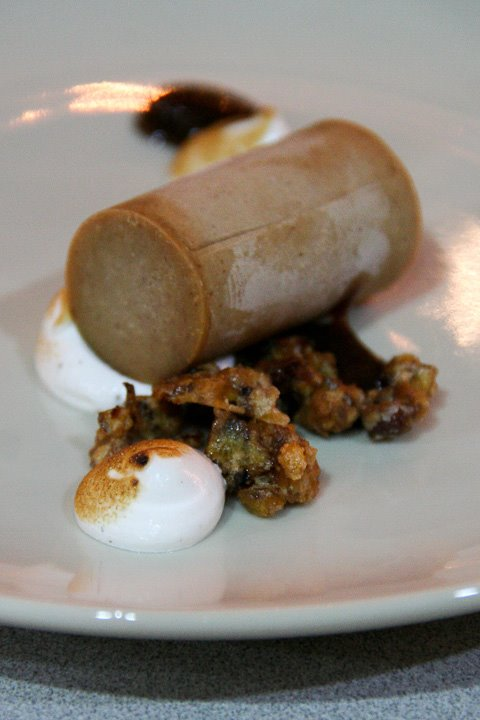... lemon-lime parfait*raisin puree*crystallized chestnuts*toasted caraway