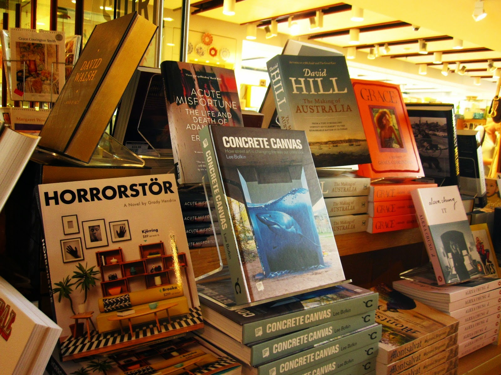 Copy of the book Horrorstör on display in a book shop.