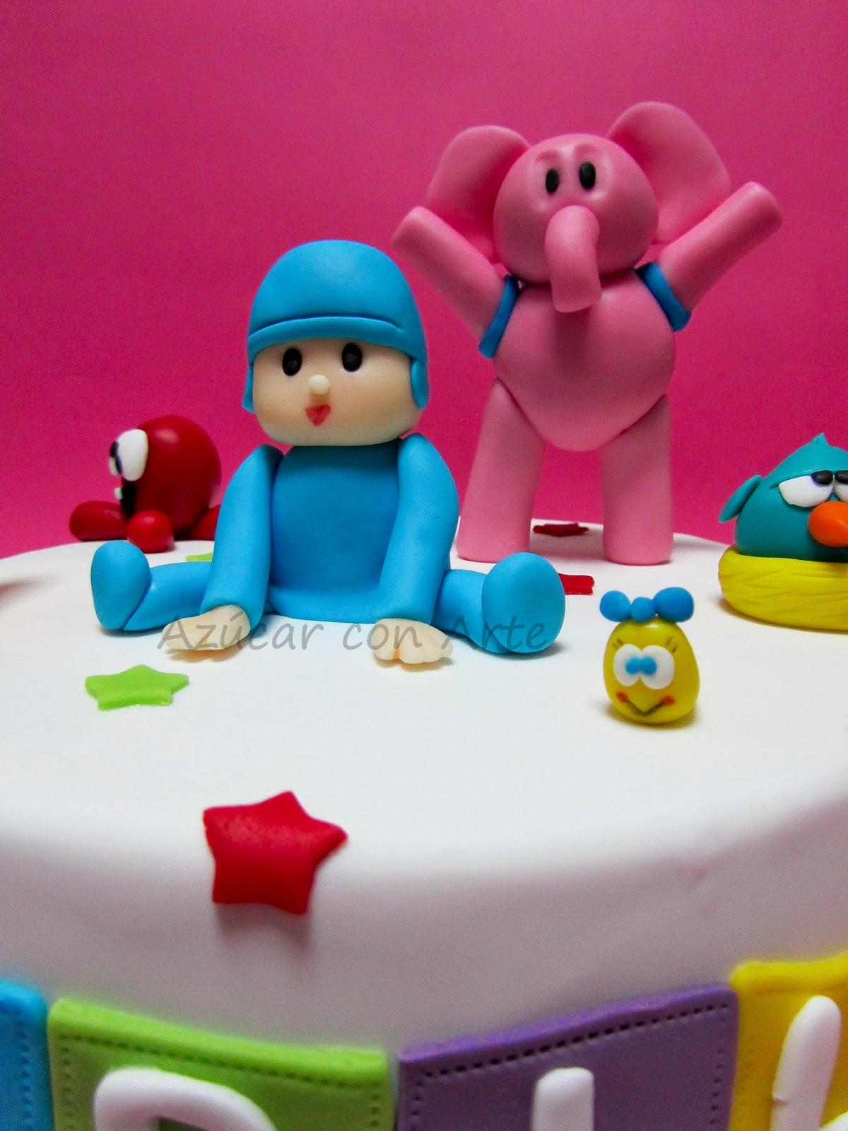 Pocoyo, pocoyo cake, gluten free cake  azucar con arte