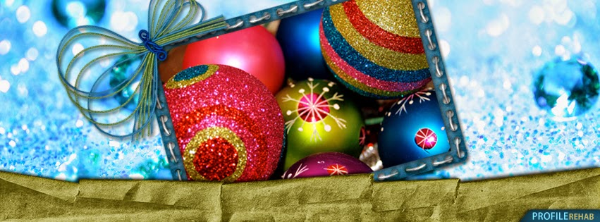 Colorful Christmas Ornaments Cover Photo