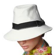 Sombreros de playa para pelo corto