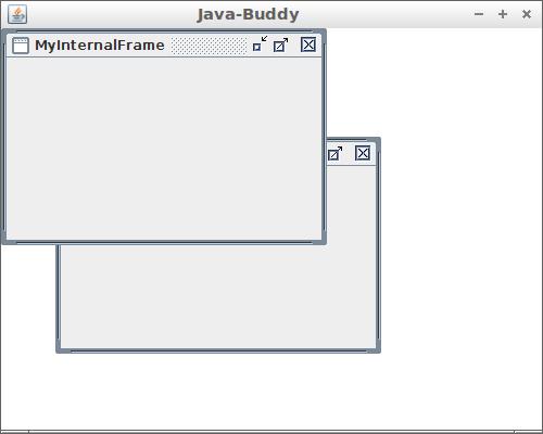 JInternalFrame example