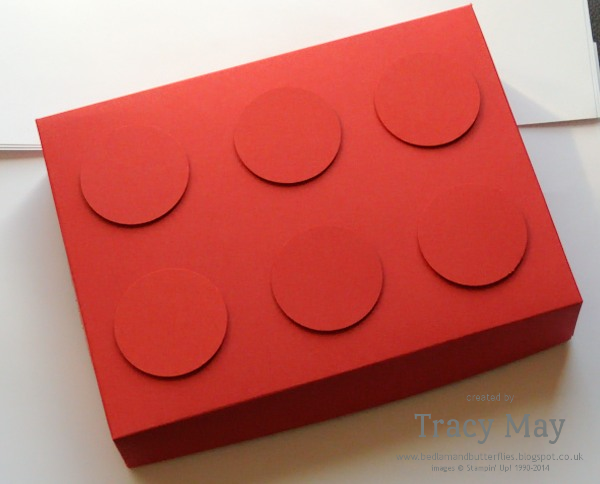 Stampin up uk lego gift box independent demonstrator Tracy May