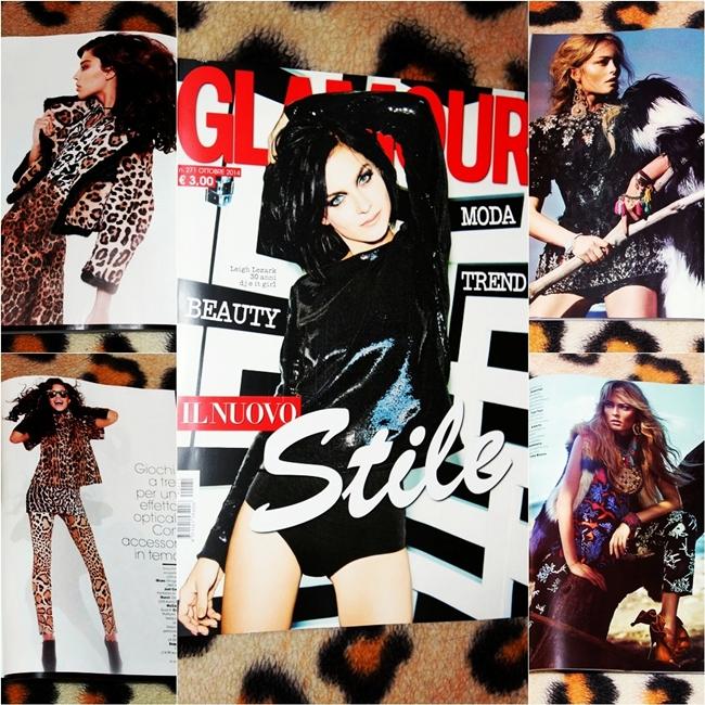 Jelena Zivanovic Instagram. Glamour Italy October 2014. Glamour Italia 2014. Best fashion magazines 2014!