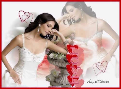 tarjetas románticas para novias