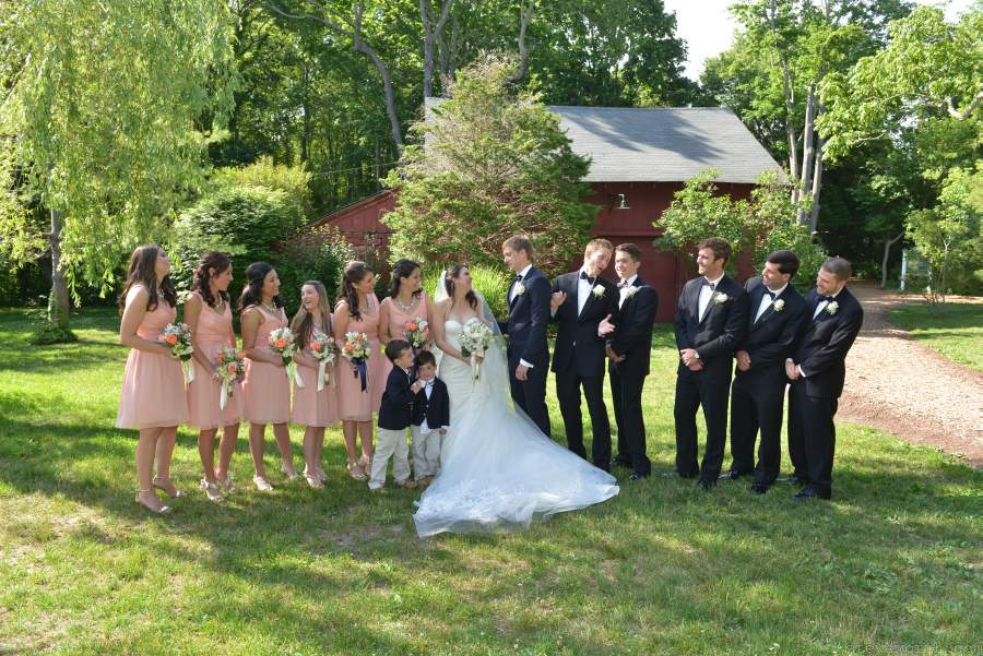 Bridal Party at Mill Pond, Stony Brook NY