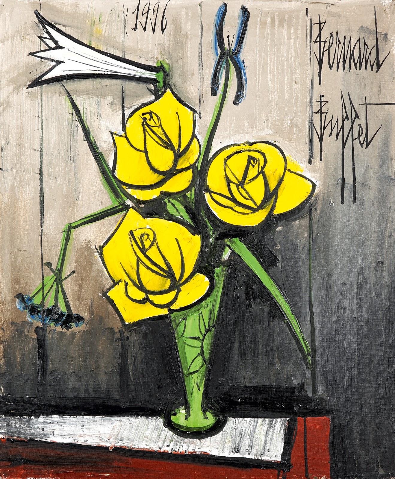 Expressionism bernard buffet 39 s flowers art for your for Bouquet de fleurs jaunes